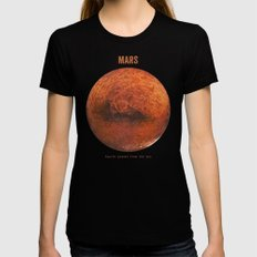 Mars Black LARGE Womens Fitted Tee