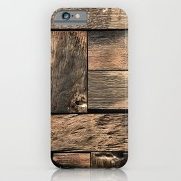 Rustic Wood Block // Tetris Jenga Vibe Real Hardwood Texture Accent Decoration iPhone Case