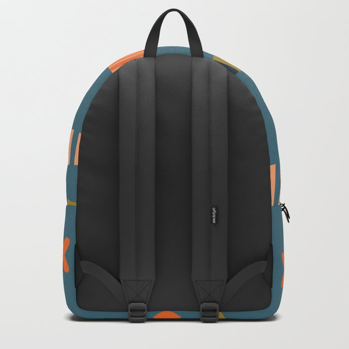Striped fish pattern Backpack