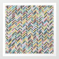 Herringbone Colour #2 Art Print