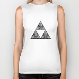 Triforce Aztec White Pattern Biker Tank