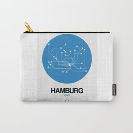 Hamburg Blue Subway Map Carry-All Pouch