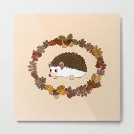 Kawaii hedgehog Metal Print