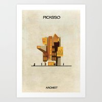pablo picasso Art Prints featuring Pablo Picasso by federico babina