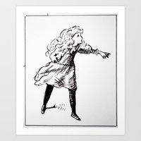 alice x zhang Art Prints featuring Alice  by Yann Thompson