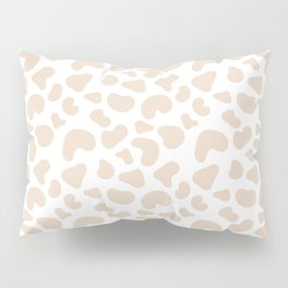 Modern pastel brown abstract animal print vector Pillow Sham