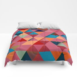 Colorfull abstract darker triangle pattern Comforters