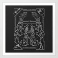 storm trooper Art Prints featuring Storm Trooper by Jon Deviny