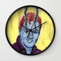 elvis Wall Clocks featuring Elvis by FAMOUS WHEN DEAD