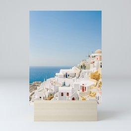 Santorini 0017: White houses in Oia, Santorini, Greece Mini Art Print