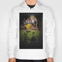 tour de france Hoodies featuring tour de france by Emanuele Reina