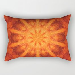 Mandala orange - Flower of Life Rectangular Pillow