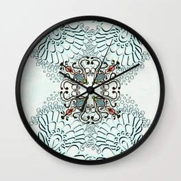 Psychedelic lace. Wall Clock