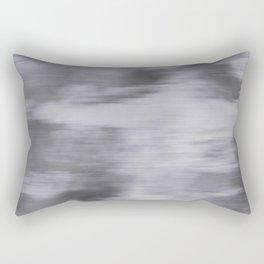 Fusion Abstract Watercolor Blend Pantone Lilac Gray / Fluid Art Ink Rectangular Pillow