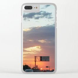 cloud gazing Clear iPhone Case