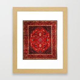 Antique Persian Rug Framed Art Print