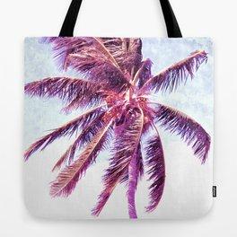 Palm Tree Violet Illustration Tote Bag