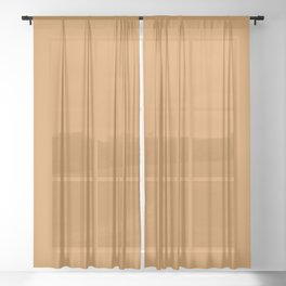 Monochrome collection Mustard Sheer Curtain