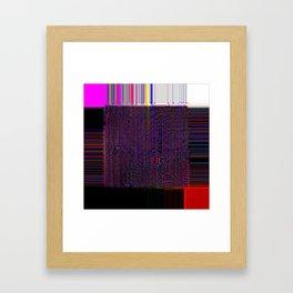 Loom - Experimental Glitch Tapestry Framed Art Print