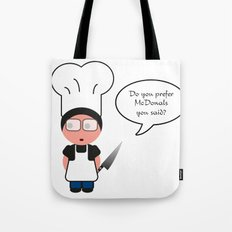 Job serie: the chef Tote Bag