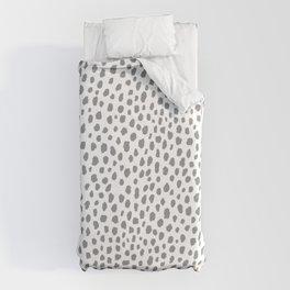Gray Dalmatian Spots (gray/white) Duvet Cover