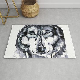Abstract Wolf - Zoomed Rug