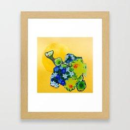 Garden Circle - Gold Framed Art Print