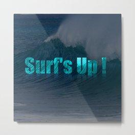 Surf's Up (darker) Metal Print