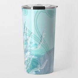 SEASHELL DREAMS | blue Travel Mug