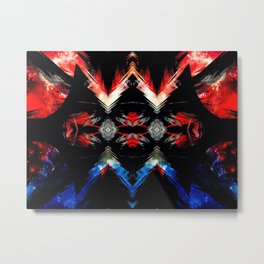 Shifted Red, White, & Blue Metal Print