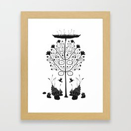Dark Plants, extended Framed Art Print