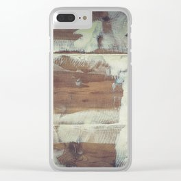 Repaired wooden shipboard Clear iPhone Case