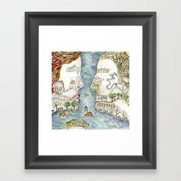 Kisstanbul Framed Art Print