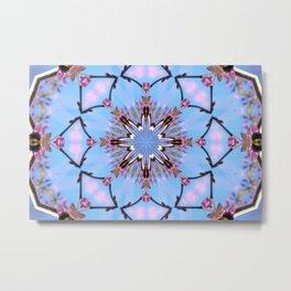 Eastern Redbud And The Bee Kaleidoscope Metal Print