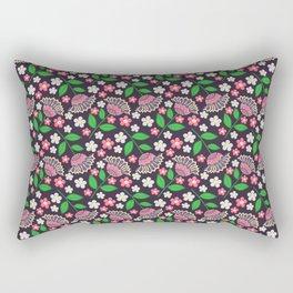 Beaded Floral Rectangular Pillow