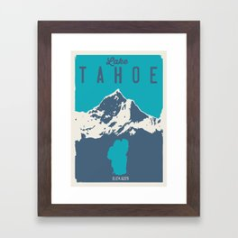 Lake Tahoe. Framed Art Print