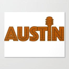Retro Austin Texas Canvas Print