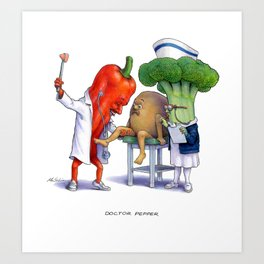 Doctor Pepper Art Print