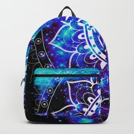 Om Mandala : Bright Violet & Teal Backpack