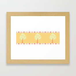 candy trees on yellow Framed Art Print