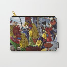 A Gang of Roosters Carry-All Pouch