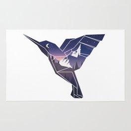 Origami Hummingbird Rug
