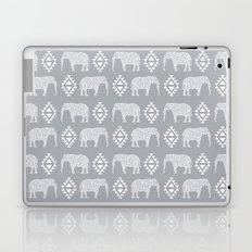 Elephant geometric southwest modern monochromatic grey children kids nature safari pattern  Laptop & iPad Skin