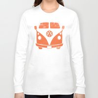 vw bus Long Sleeve T-shirts featuring VW Bus by Burnish and Press