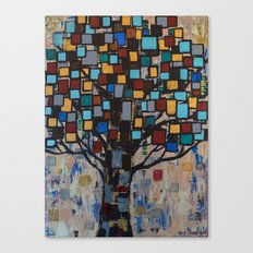 :: Stained Glass Tree :: Canvas Print