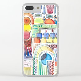 WATERCOLOR WHIMSY Clear iPhone Case