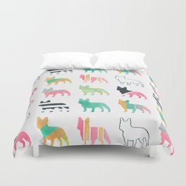 French Bulldogs Duvet Cover