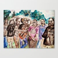 grateful dead Canvas Prints featuring Dark Star Orchestra Grateful Dead Painting by Acorn