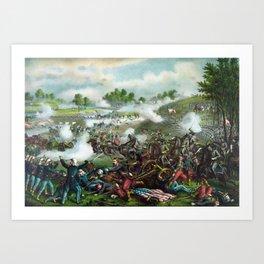 Battle Of Bull Run -- Civil War Art Print