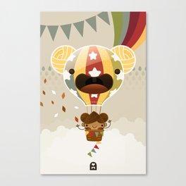 Chestnut Girl Balloon!!! Canvas Print